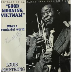"Louis Armstrong / Wayne Fontana & The Mindbenders ‎– Extrait De La Bande Originale Du Film ""Good Morning Vietnam"""