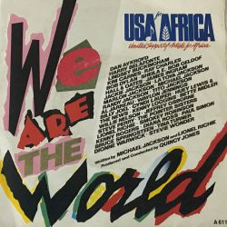 USA For Africa – We Are The World Plak