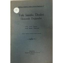 Türk İnkılabı Dersleri (Ekonomik Değişmeler)
