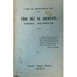 Türk Dili ve Edebiyatı O. Prof.Dr Köprülüzade M. Fuat